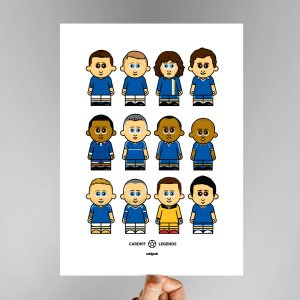 Cardiff Legends Football Print