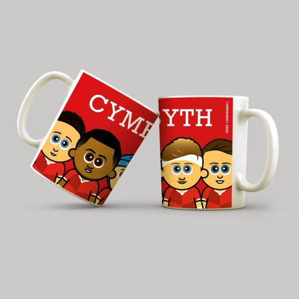Cymru Am Byth Rugby Mug