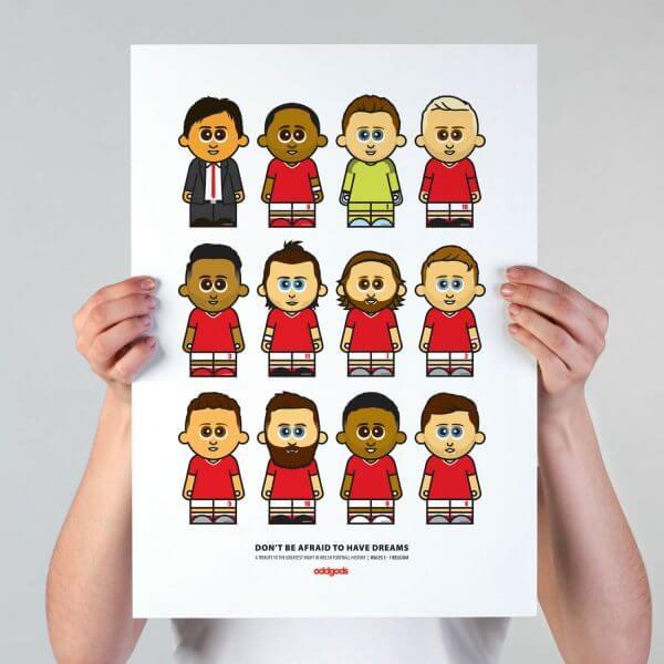 Dreams' Welsh Football Print