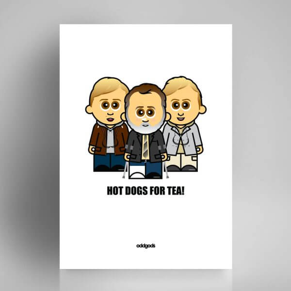Hot Dogs for Tea Print