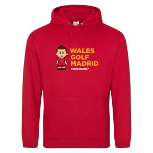 Wales. Golf. Madrid. Hooded Top